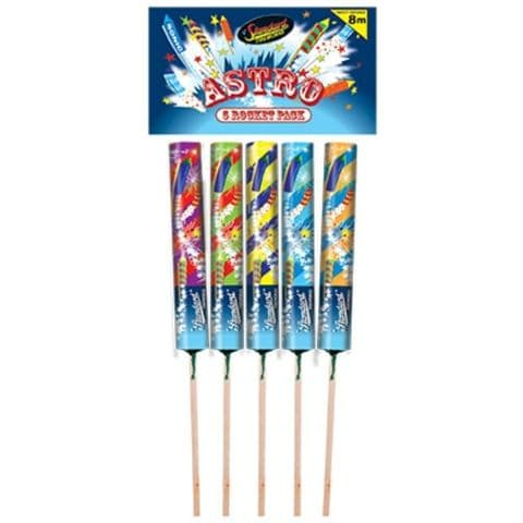 Astro Rockets Pack of 5