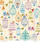 Patterned Paper Love Birds