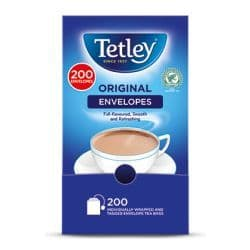 200 Tetley Envelope Tea Bag Single Portion Sachets - BULK PORTIONS