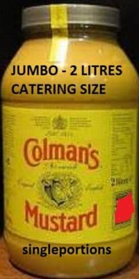 Colmans - English Mustard - RARE CATERING GIANT JUMBO Size - BULK PORTIONS