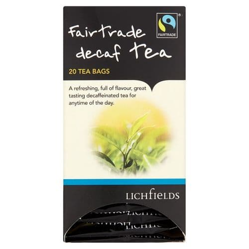 FAIRTRADE - Lichfields Decaf teabags - bulk portions sachets online