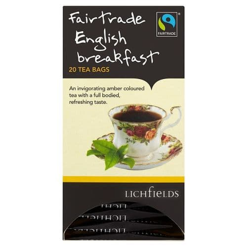 FAIRTRADE - Lichfields English Breakfast teabags - bulk portions sachets online