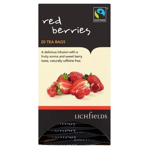 FAIRTRADE - Lichfields Red Berry teabags - bulk portions sachets online