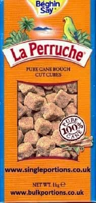 La Perruche - pure cane - brown - rough cut cubes - BULK PORTIONS