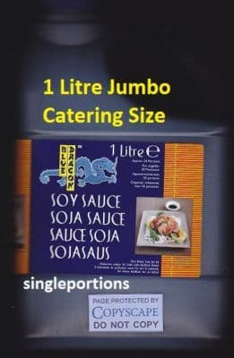 Soy Sauce RARE GIANT JUMBO CATERING SIZE sushi GREAT Gift - BULK PORTIONS
