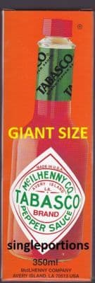 Tabasco - RARE giant catering size mega multi portion LQQK - BULK PORTIONS