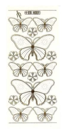 Butterfly Embroidery Peel Off