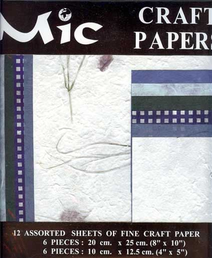 12 Sheets of High Quality Fine Baby Blue Craft Paper