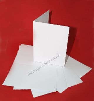 5 C6 Blank Deckle Cards & Envelopes from Craft UK Ltd