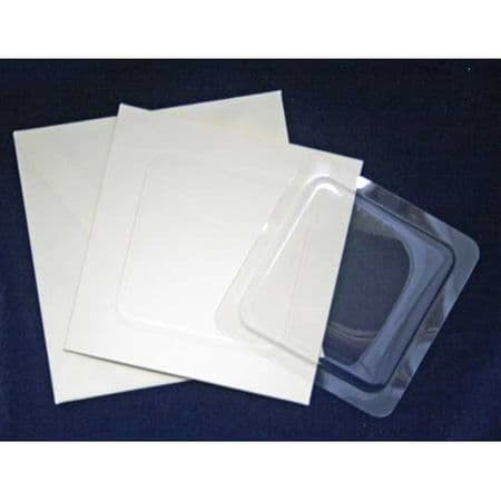 """5 Square  5"""" x 5"""" Blank Bubbles & Cards To Create Snow Globe Or 3D Decoupage Greeting Cards"""