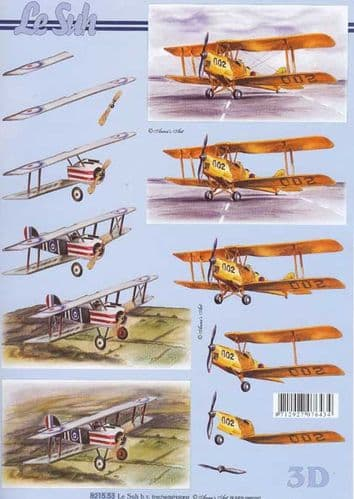 Aeroplane 3d Decoupage Sheet from Le Suh