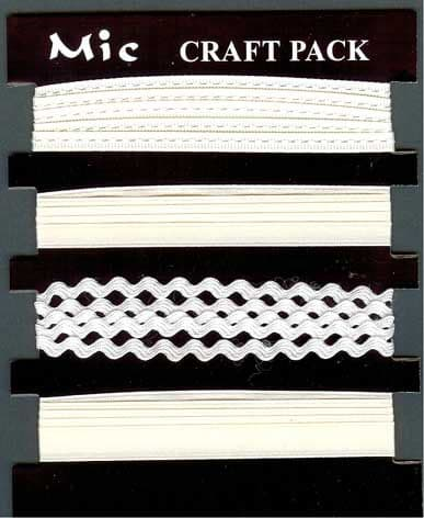 Assorted Width Cream Satin Ribbons