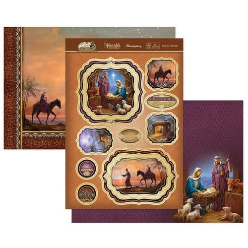 Away In A Manger Luxury Topper Set from the A Child Is Born Range By Hunkydory