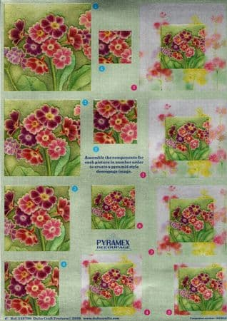 Blossoms Pyramex Dufex 3d Decoupage Pyramid Sheet