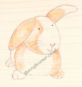 Bunny Rabbit Paper Nation Wooden Rubber Stamp