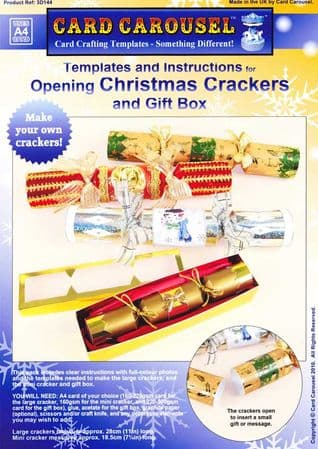 Christmas Cracker and Gift Box Template From Card Carousel
