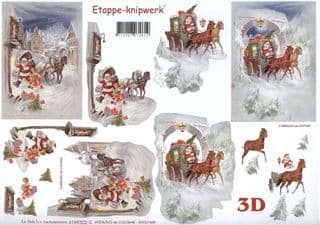 Christmas Deliveries 3d Decoupage Sheet from Le Suh