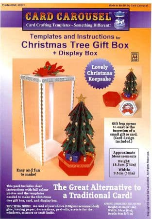 Christmas Tree Gift Box Template From Card Carousel