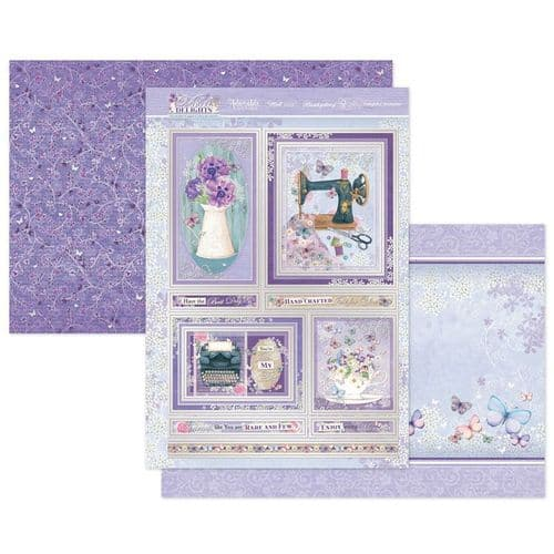 Delightful Moments Luxury Topper Set from the Violet Delights Range By Hunkydory