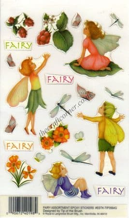 Flower Fairy Assortment Epoxy Stickers With Glitter from E-Z Stick On
