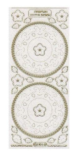 Glitter Circles Embroidery Peel Off