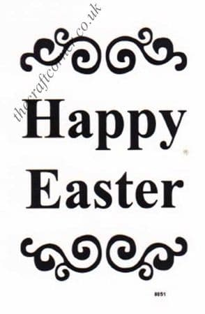 Happy Easter Clear Unmounted Rubber Stamp by Dovecraft