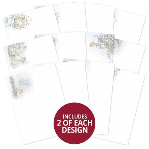 Little Red Robin Luxury Card Inserts - Hunkydory ROBIN102