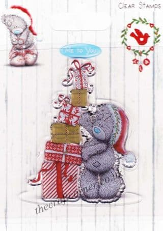 Me To You Christmas Bear With Presents Clear Rubber Stamp
