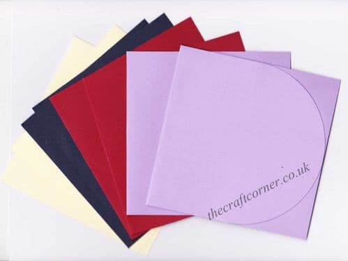 Oval Shaped Jump Blank Greeting Cards for Cardmaking