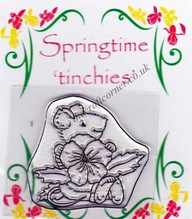 Pansy Mouse Clear Rubber Stamps by Crafty Impressions
