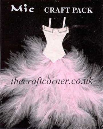 Pink Feather Dress Topper