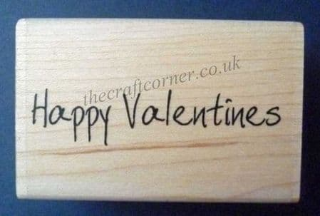 Scribbled Valentines Wood Mounted Rubber Stamp