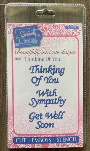 Thinking Of You Sentiments Sweet Dixie Metal Die - SDD099