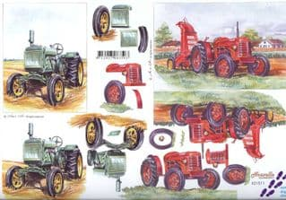 Tractor 3d Decoupage Craft Sheet from Le Suh