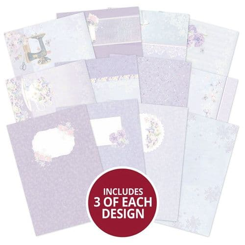 Violet Delights Luxury Card Inserts By Hunkydory