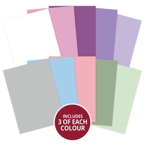Violet Delights Matt-tastic 350gsm Card Selection By Hunkydory