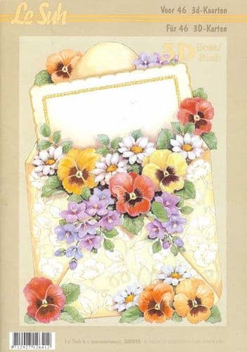 Violets Mini 3D Decoupage Book from Le Suh