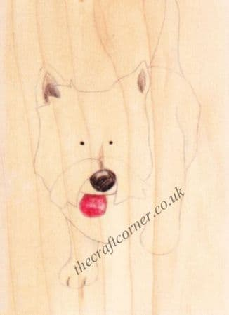 Westie Dog Jolly Nation Wooden Rubber Stamp