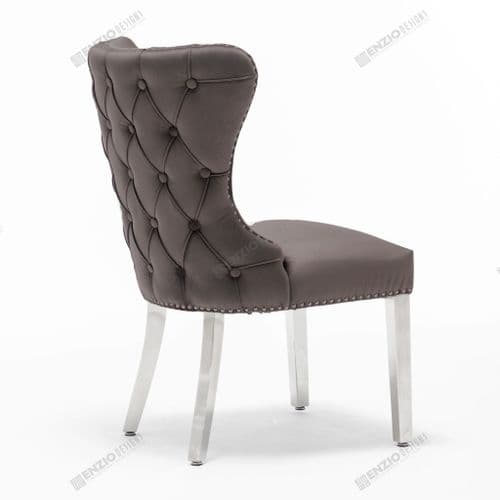 Florence Button Back Dining Chair - Dark Grey