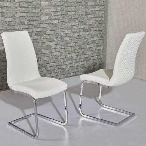 Kelcy White Dining Chair