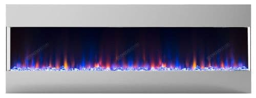 """Mirage 50"""" Black Electric LED Fire Wall Mounted recessed/insert With Remote"""