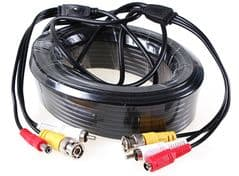 20 meter power signal audio cctv cable