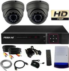 CCTV System with night vision black domes