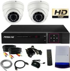 CCTV System with night vision white domes
