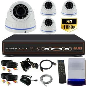 Outdoor CCTV system with 4 varifocal dome cameras.ne