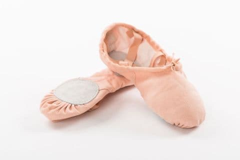 Canvas Split Sole Ballet Shoe Pink SS01CX