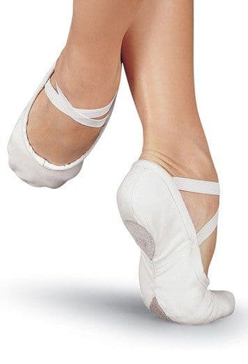 Canvas Split Sole Ballet Shoe White SS01CX