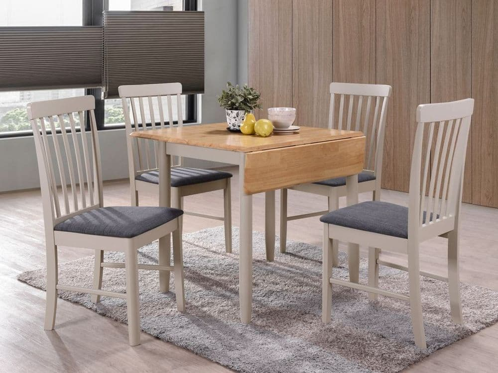 Melbourne Square Drop Leaf Dining Table Set (4 Chairs)