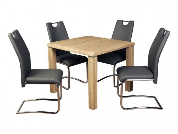 Praise Dining Set Somoma with Claire Grey Chairs