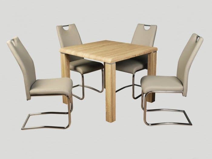Praise Dining Set Sonoma with Claire Khaki Chairs
